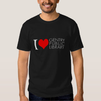 I Love The Gentry Public Library Tee Shirt