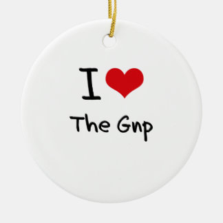 I Love The Gnp Ornaments