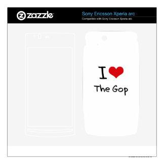 I Love The Gop Xperia Arc Skin