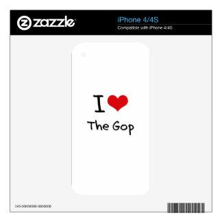 I Love The Gop iPhone 4S Skin