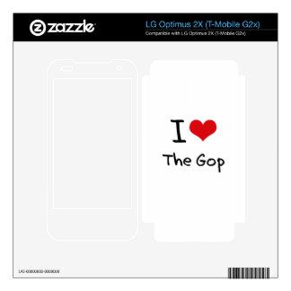 I Love The Gop LG Optimus 2X Decals