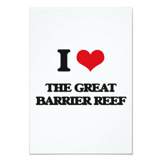 I love The Great Barrier Reef 3.5x5 Paper Invitation Card
