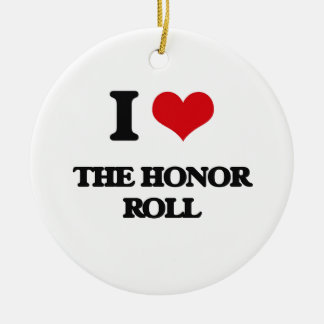 I Love The Honor Roll Double-Sided Ceramic Round Christmas Ornament