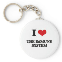 I Love The Immune System Keychain