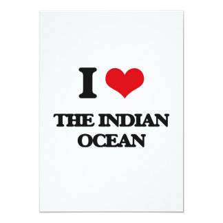 "I Love The Indian Ocean 5"" X 7"" Invitation Card"
