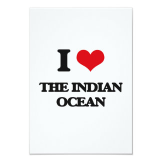 "I Love The Indian Ocean 3.5"" X 5"" Invitation Card"