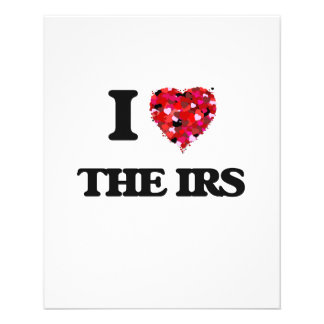 """I love The Irs 4.5"""" X 5.6"""" Flyer"""