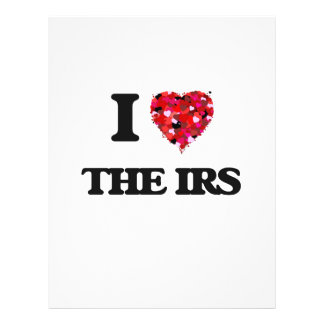 """I love The Irs 8.5"""" X 11"""" Flyer"""