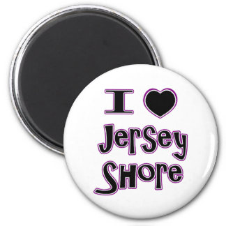 I love the jersey shore 2 inch round magnet