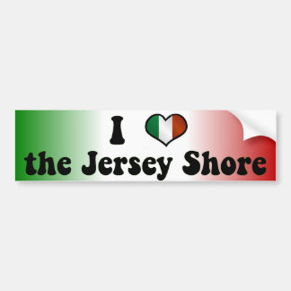 I Love the Jersey Shore Bumper Sticker