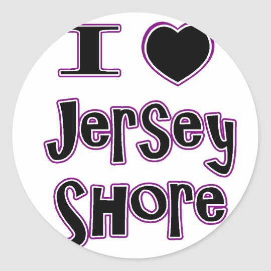 I love the jersey shore classic round sticker