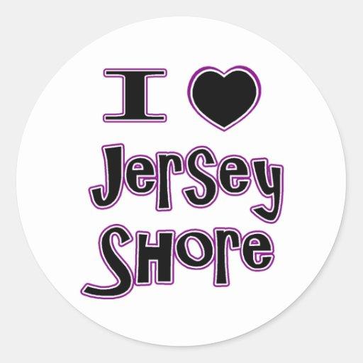I love the jersey shore classic round sticker