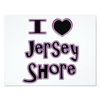 I love the jersey shore 4.25x5.5 paper invitation card