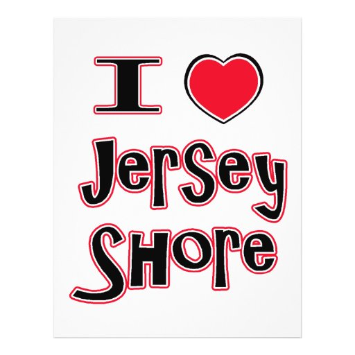 """I love the jersey shore red 8.5"""" x 11"""" flyer"""