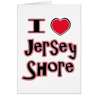 I love the jersey shore red greeting card