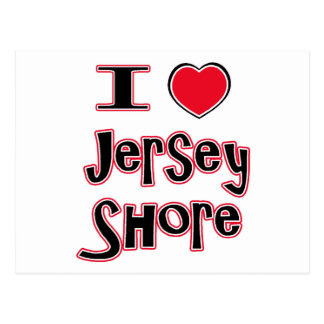 I love the jersey shore red postcard