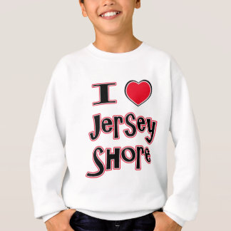 I love the jersey shore red sweatshirt