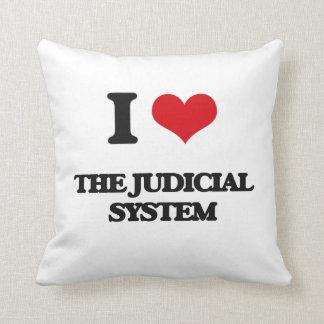 I Love The Judicial System Throw Pillows