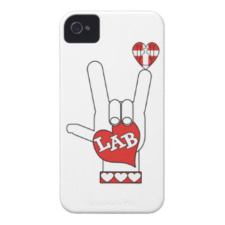 I LOVE THE LAB ASL SIGN iPhone 4 COVER