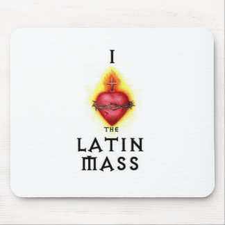 I LOVE the Latin Mass Sacred Heart of Jesus Mouse Pad