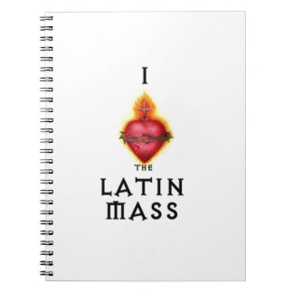 I LOVE the Latin Mass Sacred Heart of Jesus Spiral Notebooks