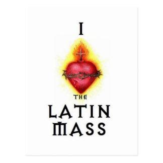 I LOVE the Latin Mass Sacred Heart of Jesus Postcard
