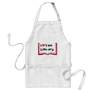 I Love The Library Adult Apron