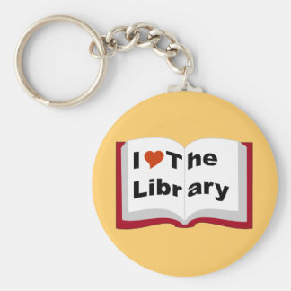 I Love The Library Keychain