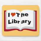 I Love The Library Mouse Pad