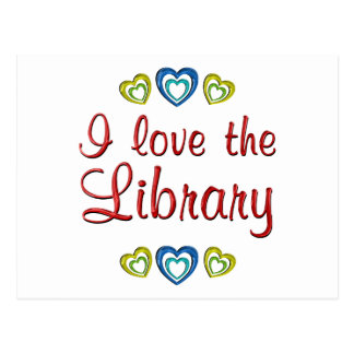 I Love the Library Post Card