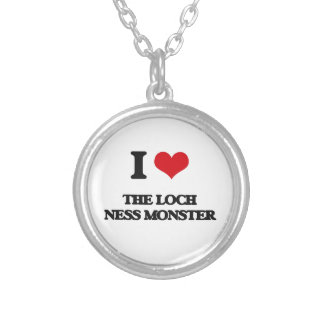 I love The Loch Ness Monster Round Pendant Necklace
