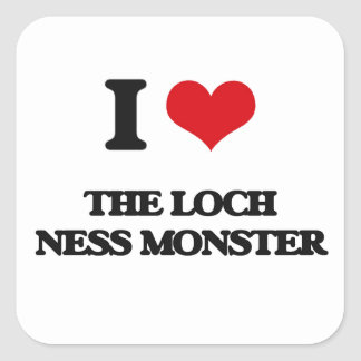 I love The Loch Ness Monster Square Sticker