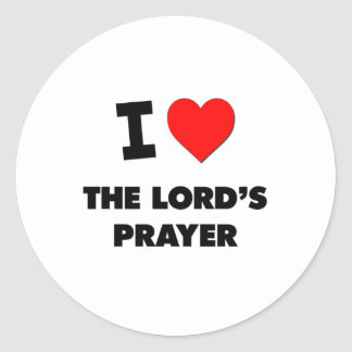 I Love The Lord S Prayer Stickers