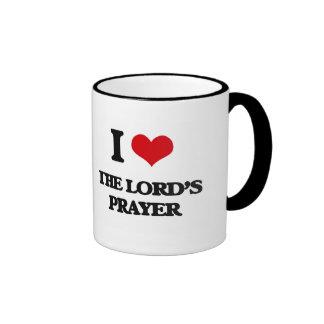 I Love The Lord'S Prayer Ringer Coffee Mug