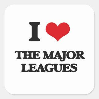 I Love The Major Leagues Square Sticker
