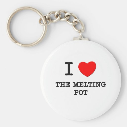 I Love The Melting Pot Basic Round Button Keychain