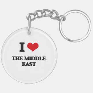 I Love The Middle East Double-Sided Round Acrylic Keychain
