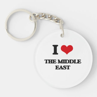 I Love The Middle East Single-Sided Round Acrylic Keychain