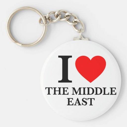 I Love the Middle East Keychain