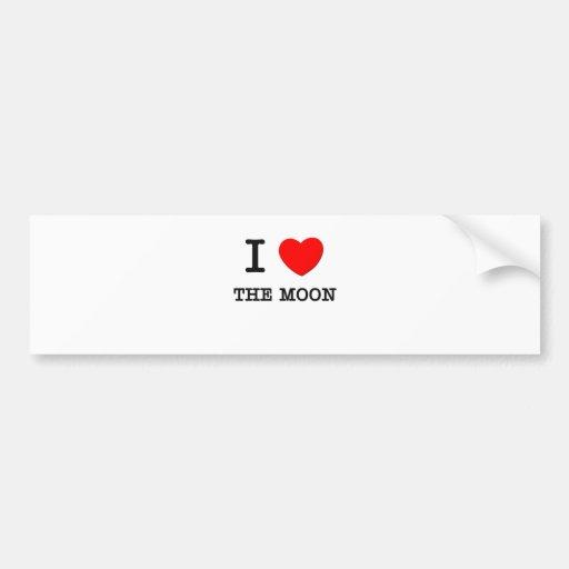 I Love The Moon Car Bumper Sticker