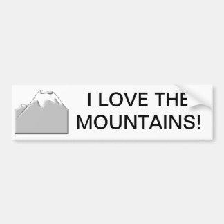 I love the mountains car bumper sticker