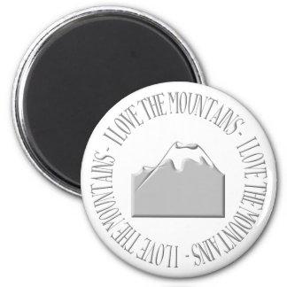 I love the mountains fridge magnets