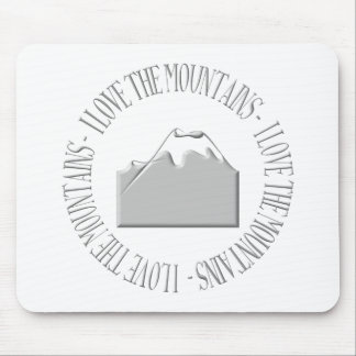 I love the mountains mouse pad