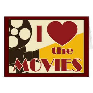 I Love the Movies Stationery Note Card