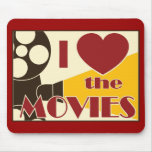 I Love the Movies Mouse Pad
