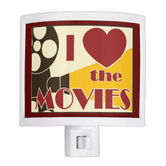 I Love the Movies Night Light