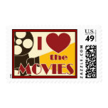 I Love the Movies Postage Stamps