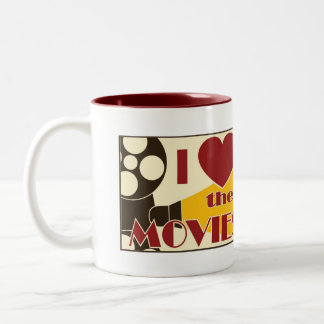 I Love the Movies Two-Tone Coffee Mug