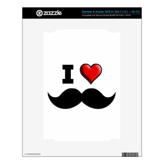 I Love the Mustache Moustache NOOK Decals