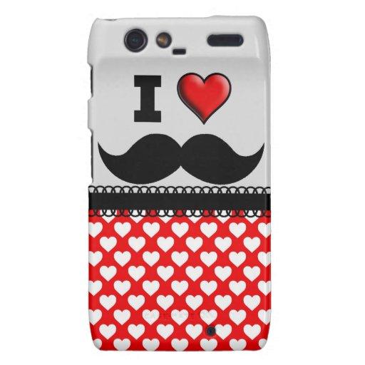 I Love the Mustache Moustache Stache Droid RAZR Cover
